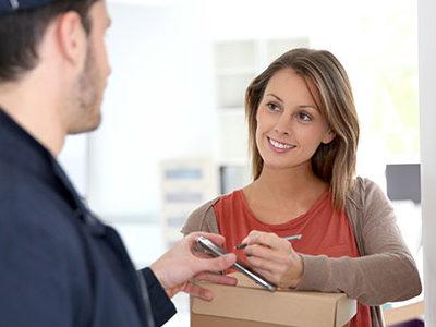 Livraison de colis acheté grâce au e-commerce
